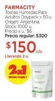 Oferta de Toallas Húmedas Para Adultos Doypack x 50 u. por $300