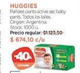Oferta de Pañales pants active sec baby pants. por $674,1