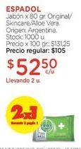 Oferta de Jabón x 80 gr. por $105