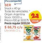 Oferta de Snack x 40 gr. por $133,5