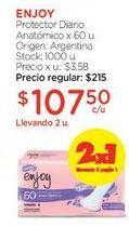 Oferta de Protector Diario Anatómico x 60 u. por $215