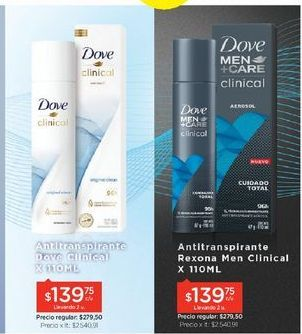 Oferta de Desodorante Dove por $279,5