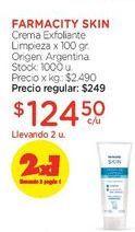 Oferta de Crema Exfoliante Limpieza x 100 gr. por $249