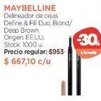 Oferta de Delineador de cejas Define & Fill Duo. por $667,1