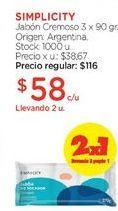 Oferta de Jabón Cremoso 3 x 90 gr. por $116
