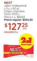 Oferta de Jabón Antibacterial x 3 u. x 90 gr. por $254,5