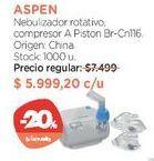 Oferta de Nebulizador rotativo, compresor A Piston Br-Cn116. por $5999,2