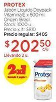 Oferta de Jabón Líquido Doypack Vitamina E x 500 ml. por $405
