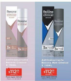 Oferta de Desodorante Clinical En Aerosol x 110 Ml por $224,5