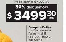 Oferta de Camperas Puffer por $349930