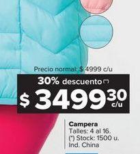 Oferta de Camperas por $349930