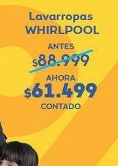 Oferta de Lavarropas Whirlpool por $61499