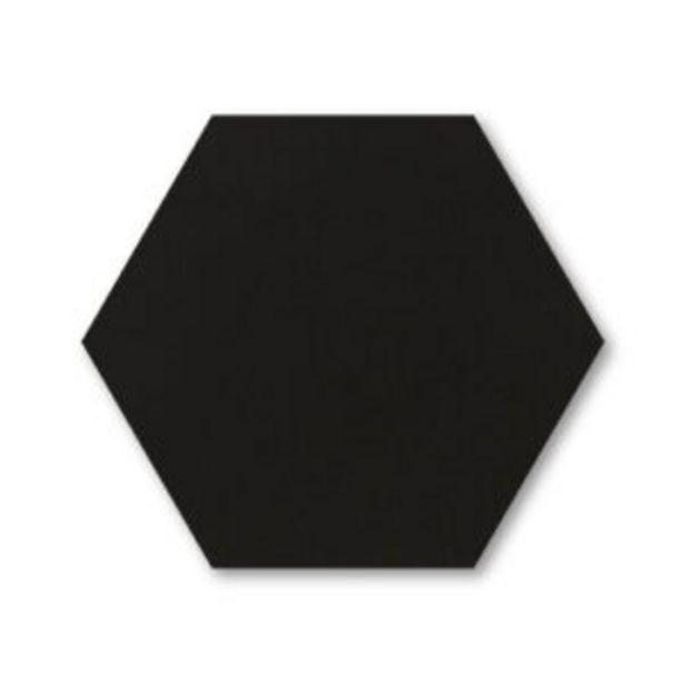 Oferta de Porcelanato Monocolor Hexágono Negro Mate (17.4 x 17.4 cm) Acuarela por $8296,85
