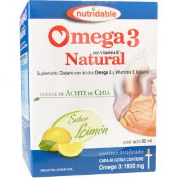 Oferta de Omega 3 Natural Limon Gotas 60 Ml por $713,25