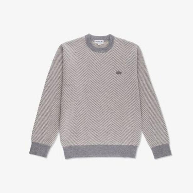 Oferta de Sweater De Hombre Texturizado En Lana Ecológica Con Cuello Redondo por $11899