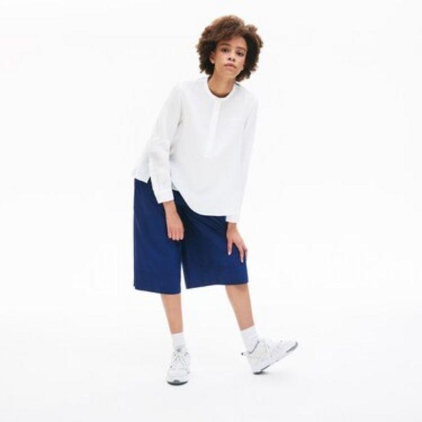 Oferta de Blusa De Mujer De Lino Con Cuello Mao Abotonado por $6509