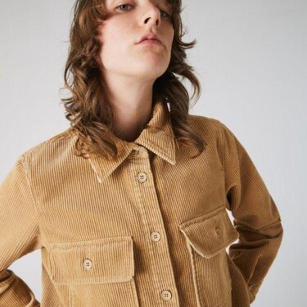 Oferta de Camisa De Mujer Lacoste Live En Terciopelo Acanalado Con Bolsillos por $11249