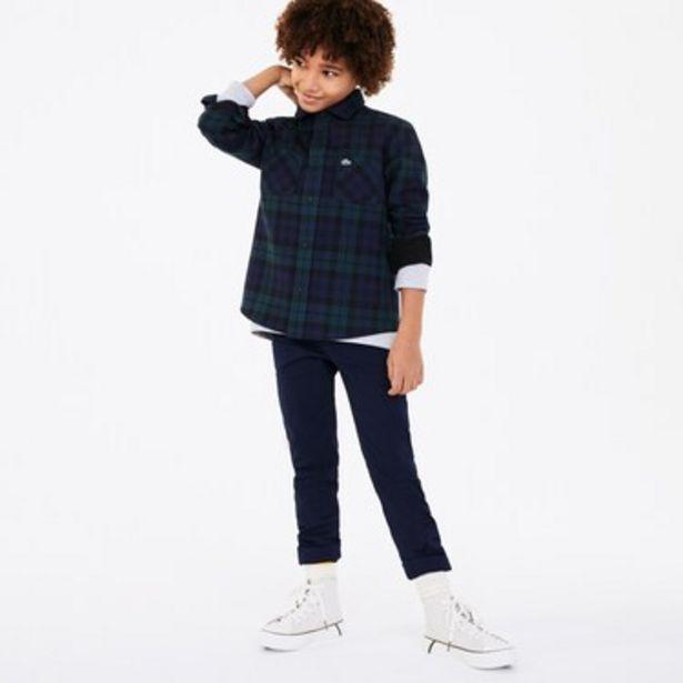 Oferta de Camisa De Niño De Franela De Algodón De Cuadros por $4199