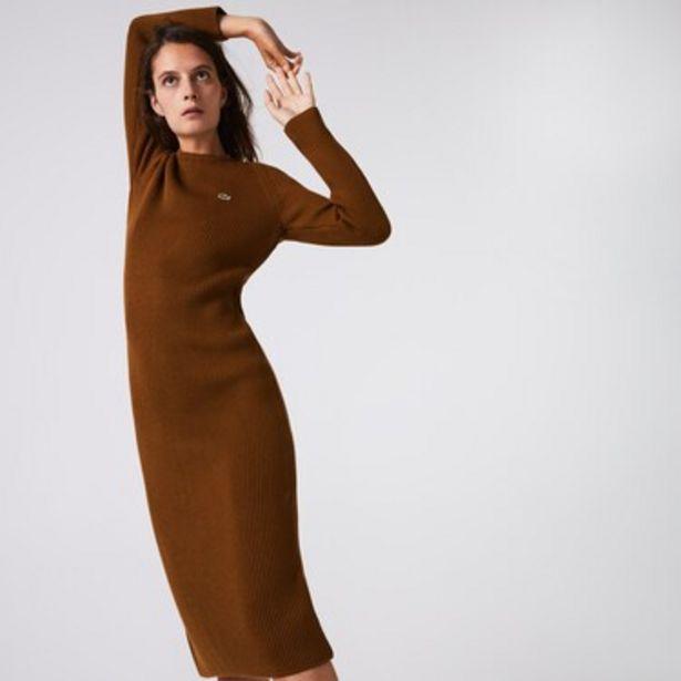Oferta de Vestido Largo Tipo Sweater De Mujer En Mezcla De Lana Acanalada por $14249