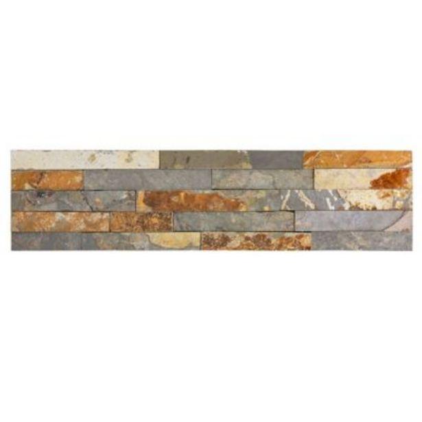 Oferta de Revestimiento piedra 15 x 60 Óxido natural 0.63 m2 - Holztek por $3499