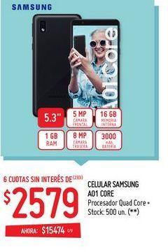 Oferta de Celulares samsung A01 por $2579