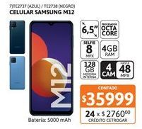 """Oferta de Celular Samsung M12 6.5"""" 4/128 Blue por $35999"""