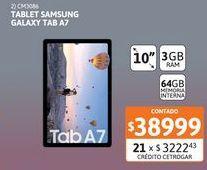 """Oferta de Tablet Samsung Galaxy TAB A7 10"""" 3-64GB por $38999"""