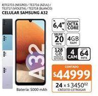 """Oferta de Celular Samsung 6.4"""" A32 4/128 Black por $44999"""