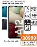 Oferta de Celular Samsung A12 4/64GB 45MP Azul por $30999