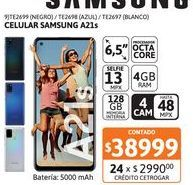 Oferta de Celular Samsung A21s 4/128 48MP Azul por $38999