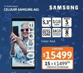 Oferta de Celular Samsung A01 Core 1/16 Azul por $15499