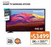 """Oferta de Smart Tv 43"""" Samsung 43T5300 por $53499"""