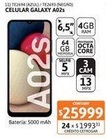 Oferta de Celular Samsung A02s 4/64GB 13MP Azul por $25999