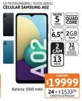 Oferta de Celular Samsung A02 2/32 Black por $19999