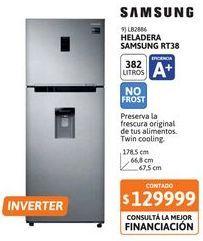 Oferta de Heladera con Freezer SAMSUNG RT38 382 Litros Silver Inverter por $129999