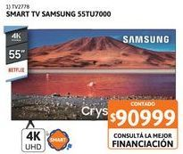 """Oferta de Smart Tv 55"""" Samsung 55TU7000 UHD 4K por $90999"""