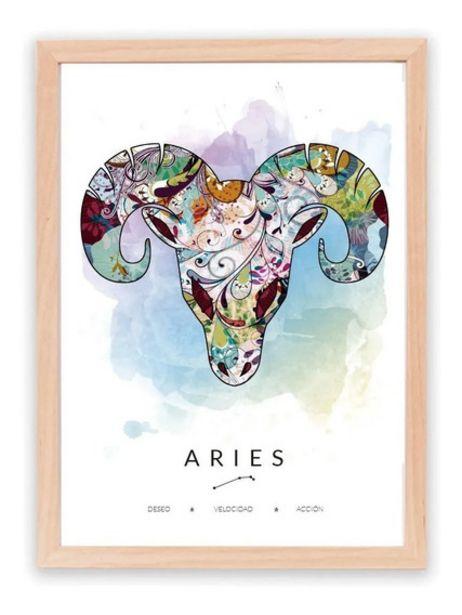 Oferta de Cuadro Decorativo Signos Del Zodiaco - Astrología De Regalo por $1299