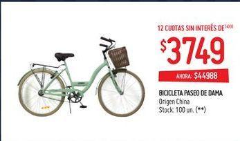 Oferta de Bicicletas paseo de dama por