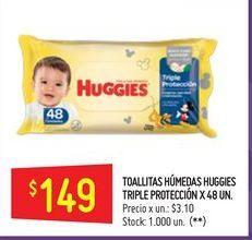 Oferta de Toallitas húmedas para bebé Huggies por $149
