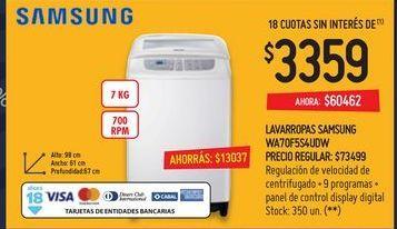 Oferta de Lavarropas Samsung por $3359