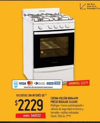 Oferta de Cocinas volcán por $2229