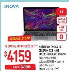 """Oferta de Notebook E nova 14"""" por $4159"""