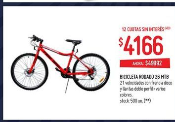 Oferta de Bicicletas rodado 26 mtb por