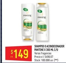 Oferta de Shampoo/ acondicionador Pantene por $149