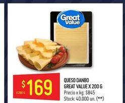 Oferta de Quesos danbo Great Value 200 gr por $169