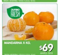 Oferta de Mandarinas x kg por $69