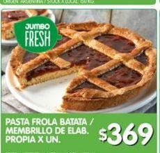 Oferta de Pasta frola de elab. propia de membrillo y batata por $369