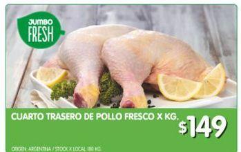 Oferta de Cuarto trasero de pollo kg por