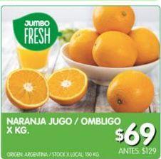 Oferta de Naranjas para jugo / ombligo x kilo por $69