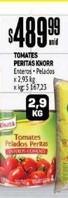 Oferta de Tomates Peritas Knorr 2.9 Kg por $489,99